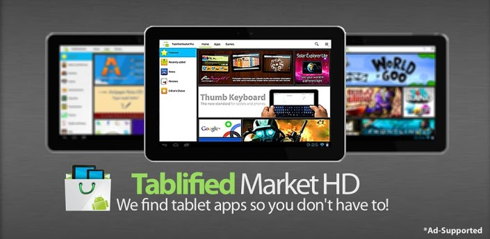 Easily search Apps and Games designed specially for Android Tablet