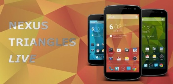 Nexus Trinagle Live Wallpaper