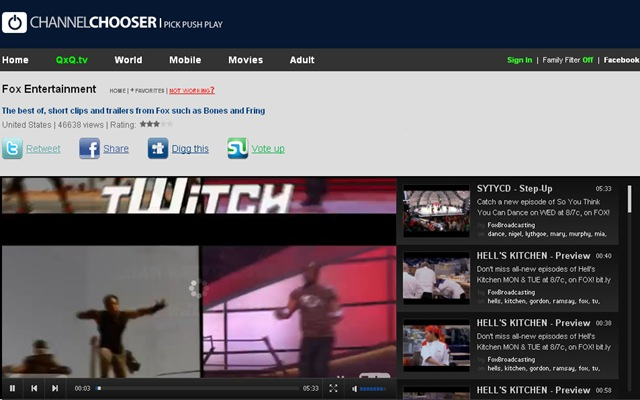 Channel Chooser-Free TV Online