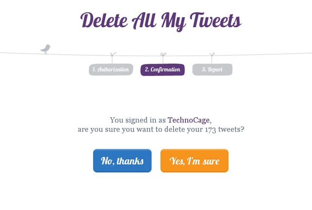 Delete My All Tweet