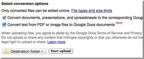 Google Docs-image to text