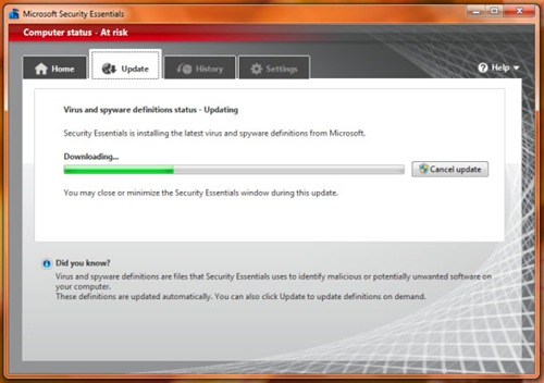 Microsoft Security Essentials for windows 8