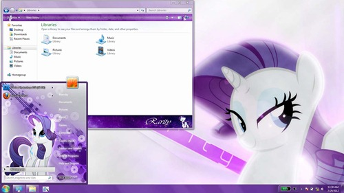 rarity- Windows 7 Theme