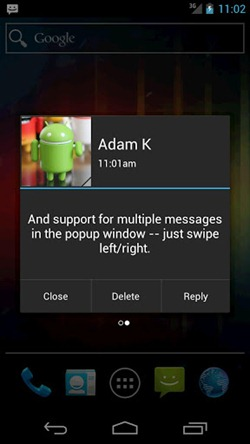 sms pop for android