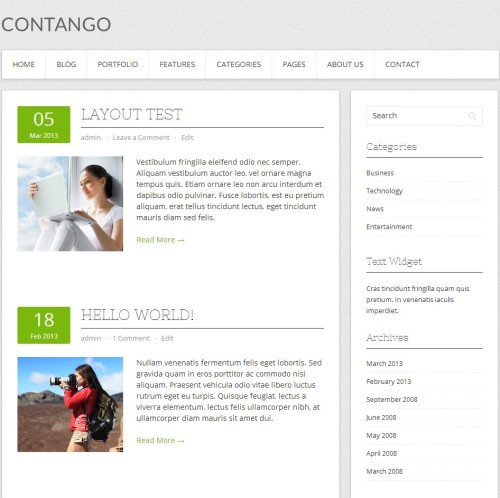 Contango-Free WordPress Theme