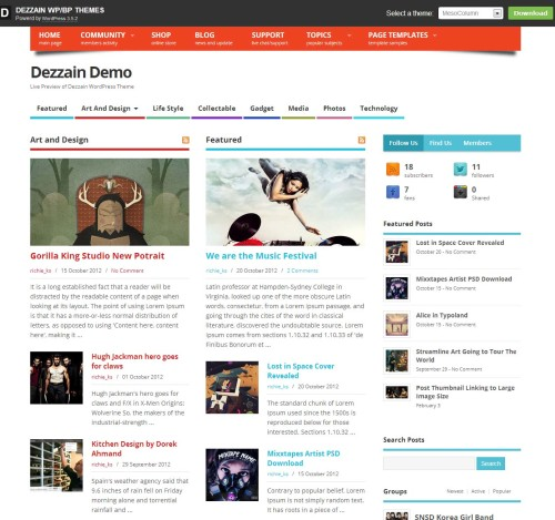 Dezzain WordPress Theme