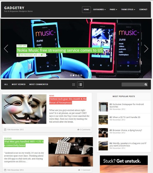 Gadgetry- Free WordPress Theme