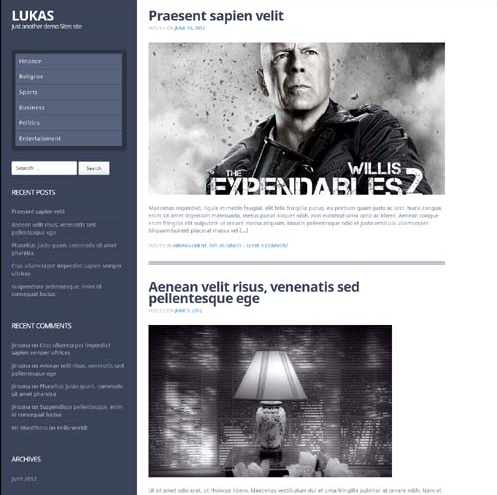 Lukas Premium WordPress Theme
