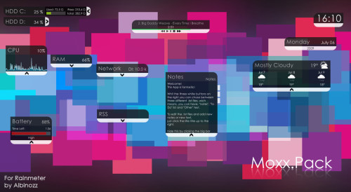 Moxx.Pack for Rainmeter