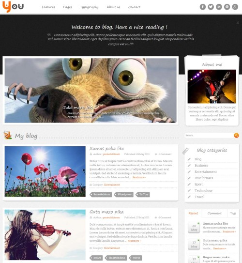 SW You WordPress Theme