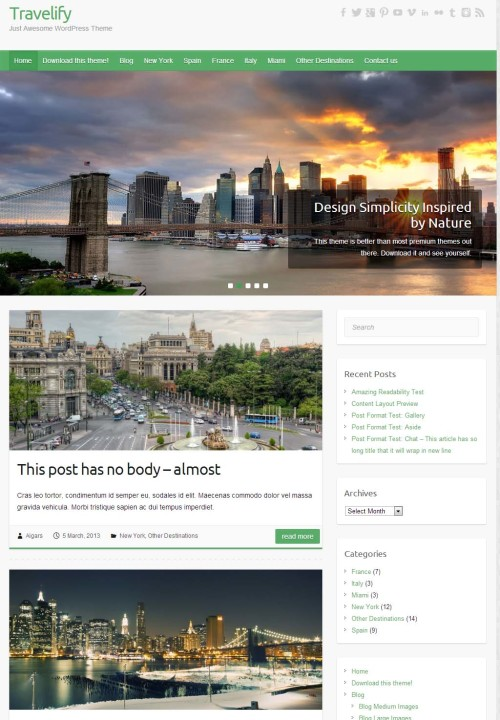 Travelify- Awesome WordPress Theme