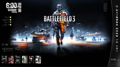 Battlefield 3 for Rainmeter
