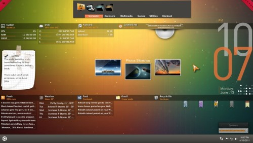 Orange Glow for Rainmeter