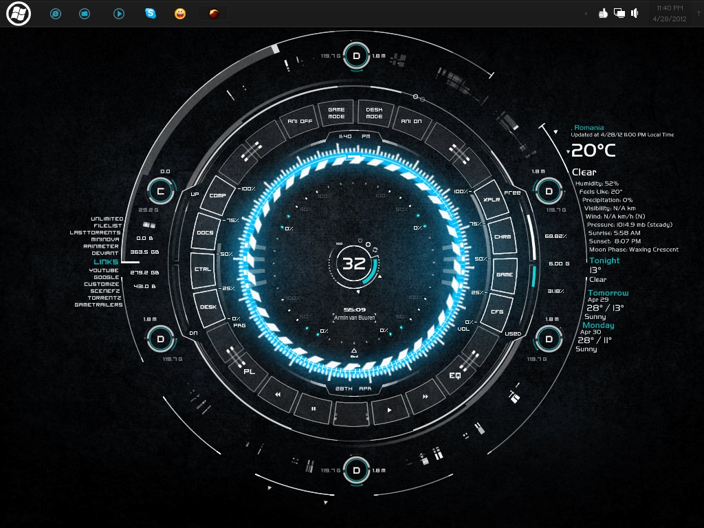 Image gallery rainmeter themes for Deviantart rainmeter