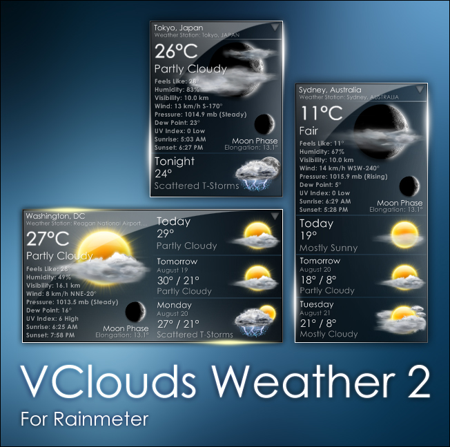 VClouds Weather 2 for Rainmeter