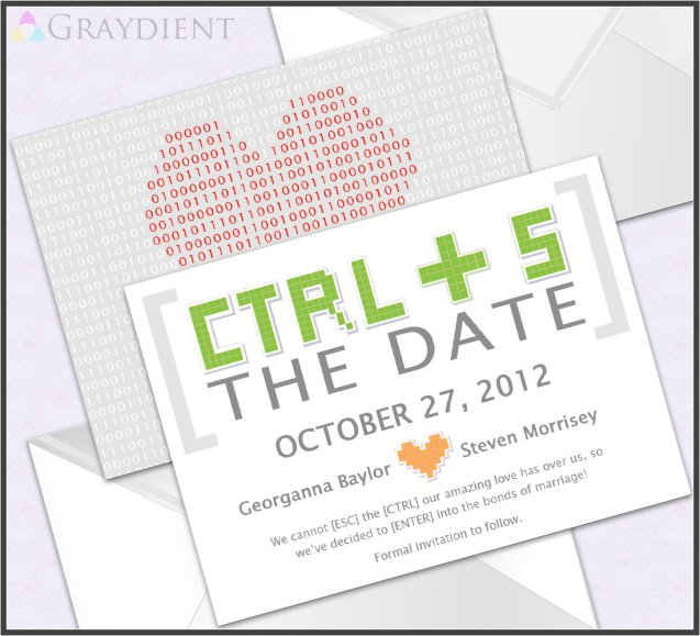 8. Geek Pixel Save The Date