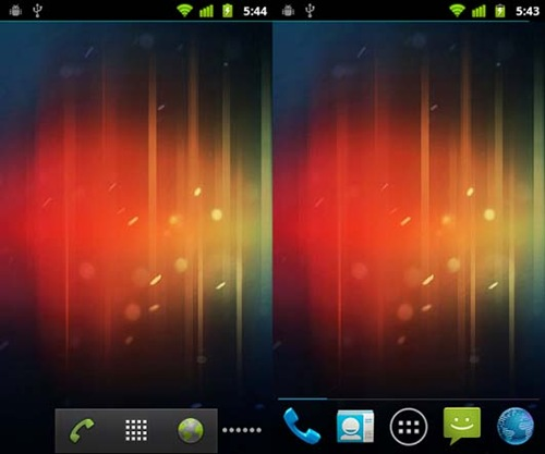 Stock Android4.0 Ice Cream Sandwich ICS Launcher