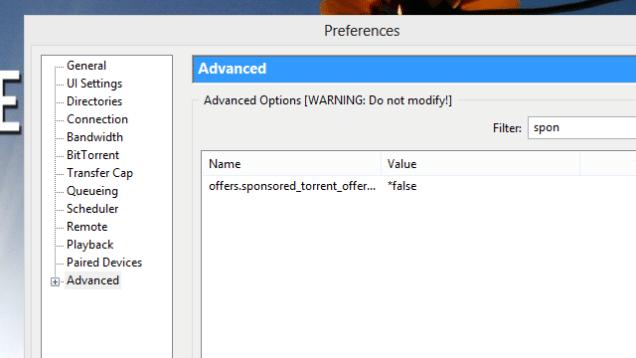 remove utorrent ads