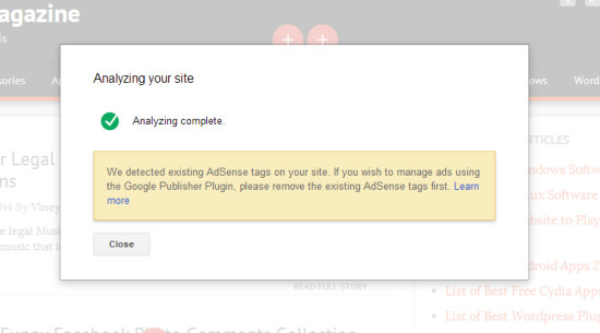 Analyize your site