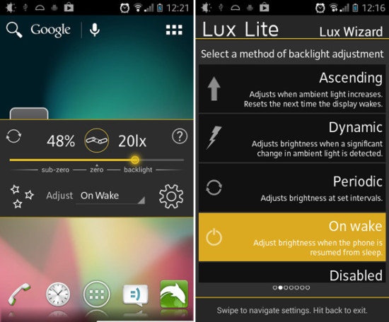 lux for android