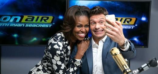 First Lady & Ryan Seacrest selfie