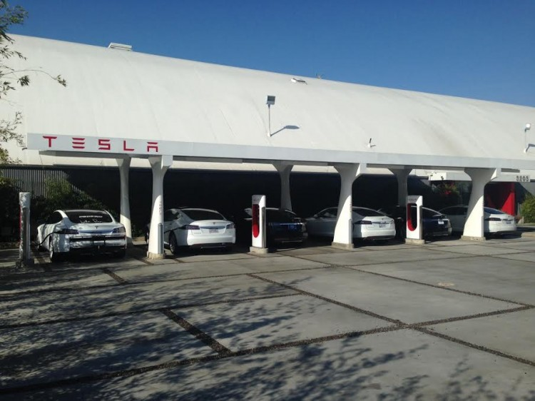 Tesla Supercharger Station in Hawthorne California